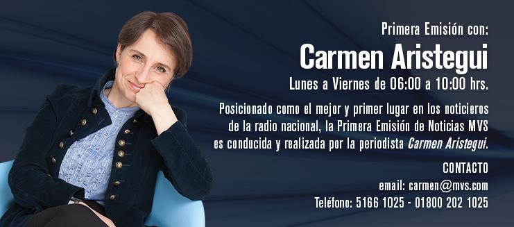 Primera Emisión con Carmen Aristegui